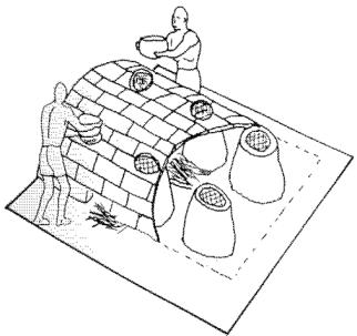 Reconstitution de la brasserie de Hierakonpolis (Geller 1992)